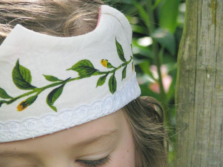 Vintage fabric and lace play crown by Heart Felt
