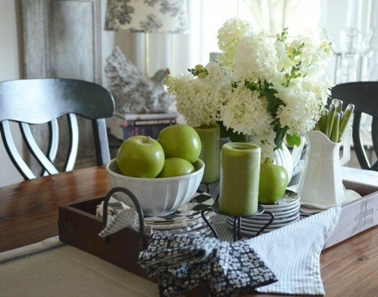 Auf dem tablett geschirr bereitstellen fr hling ostern pinterest dekoration wohnung k che - Deko kitchen ostern ...