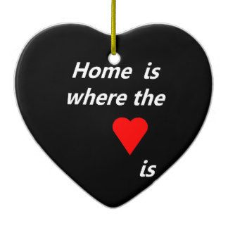 Home is where the heart is ceramic heart ornament - can personalized with photo and text!