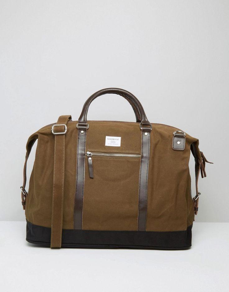 Sandqvist+Jordan+Holdall+Bag+In+Olive