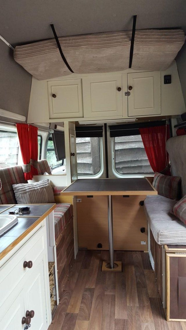 For sale is our Campervan conversion, run's perfectly, lots of work done, including new batteries and timing chain (invoices can be viewed) sell due to new van project. INTERIOR INCLUDES. 2 ring gas hob and grill. Sink with running water. Fresh water and waste containers. Leisure battery. 12v outlets. 240v external hook up point. LED lighting. Diesel Heater system. Extractor fan. V5C Motor Caravan. Table with seating area, which converts into a double bed. Plenty of storage. Blinds and…