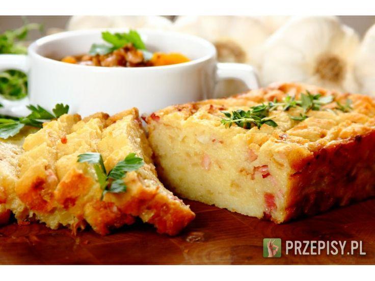Babka Ziemniaczana  Fix Knorr połącz z wodą i jajkami, wymieszaj do uzyskania jednolitej masy. Cebulę i boczek pokrój...