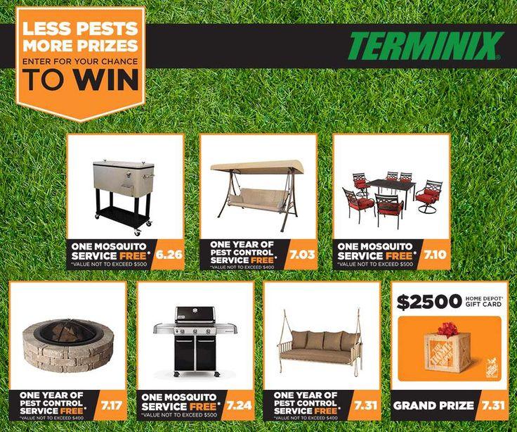 logo Enter Terminix Less Pests More Prizes #Terminix www.Terminix.com/sweeps http://swee.ps/uaNwmvBW