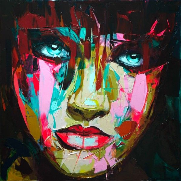 Francoise Nielly - I dig this for the colour schemes and for the awesome treatment of paint - assumingly with a pallette knife. I feel like I'm building a collection of wicked portraits before attempting my own..