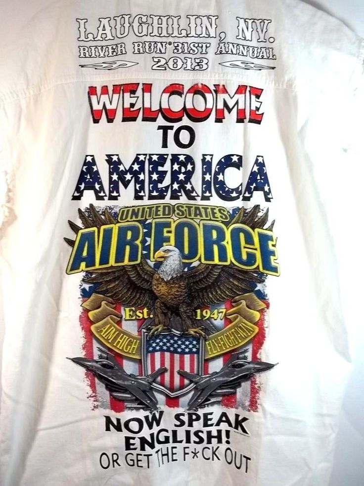 Biker Wear Sleeveless White Shirt River Run Laughlin Air Force XL 2013 America #Bikerwear #ButtonFront