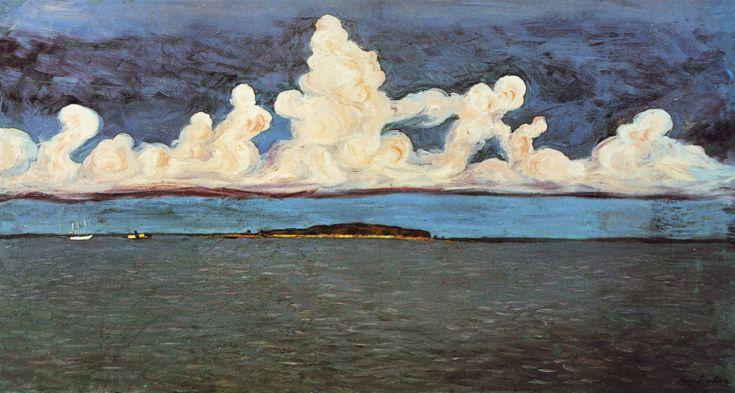 HUGO SIMBERG  (1874-1917) Finish Symbolist Painter--Mensin Saari (1906)