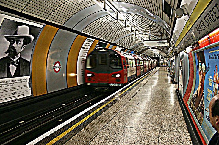 The Underground train in London