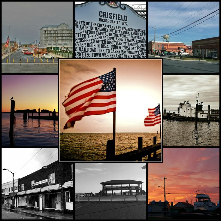 Located along the Chesapeake Bay Crisfield