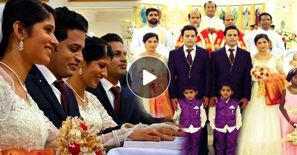 #Amazing Twin Brides Married to Twin Grooms by Twin Priest amid Twin Entourage in This Extra Special but Totally Confusing Wedding - http://wp.me/p5GV1p-37U