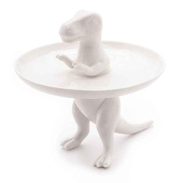 Dinosaur Tribe T-Rex Cake Plate by imm Living