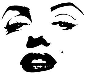 Marilyn Monroe Stencil Silhouette Cameo