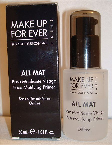 "makeup forever all mat face matifying primer  ""Sometimes you need a little more than just a primer alone.  This silicone-based primer combines the benefits of oil-absorbing ingredients with a soft matte finish.  This product is especially beneficial for those of us that have serious t-zone shine or excessively oily skin."" - kevin james bennet"