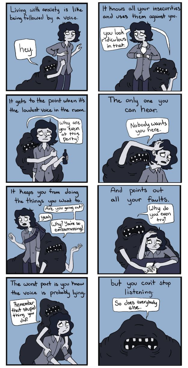 The way our restless minds consume us. | 24 Comics That Capture The Frustration Of Anxiety Disorders