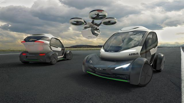 Este es Popup, el vehículo híbrido mitad auto y drone de Italdesign y Airbus - 10.03.2017