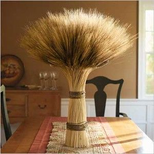 92 best wheat bundles images on pinterest herringbone centerpiece fall decorating ideas wheat bundle wrapped in twine great junglespirit Images