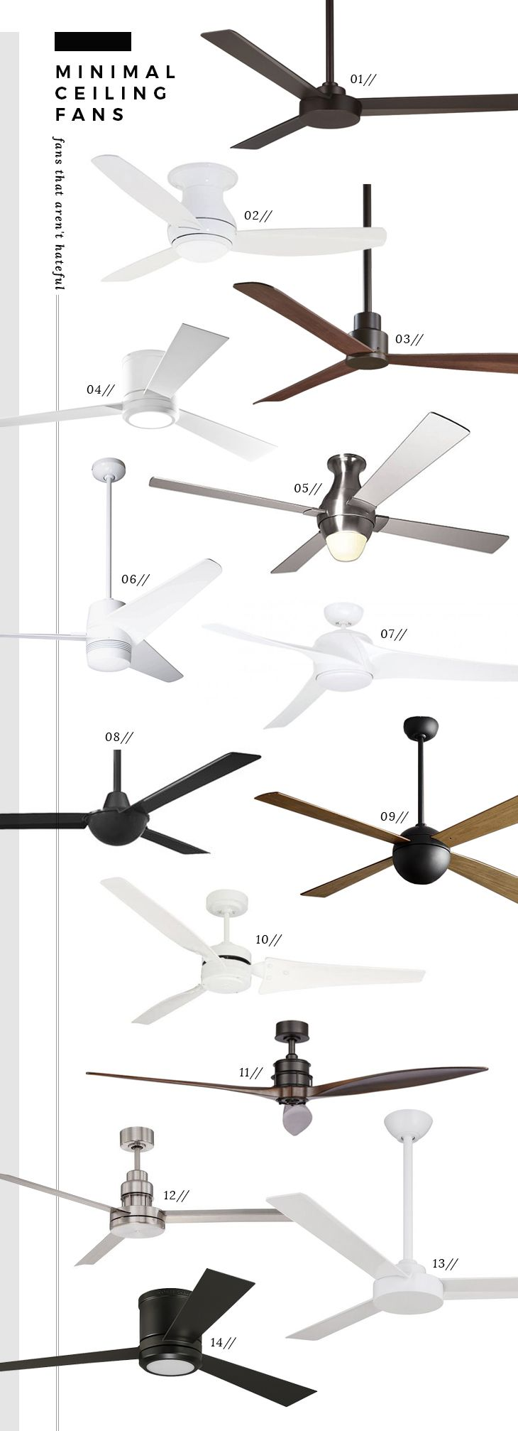 The Best Modern Minimal Ceiling Fans