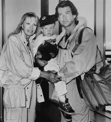 Pierce Brosnan, Cassandra Harris and Sean