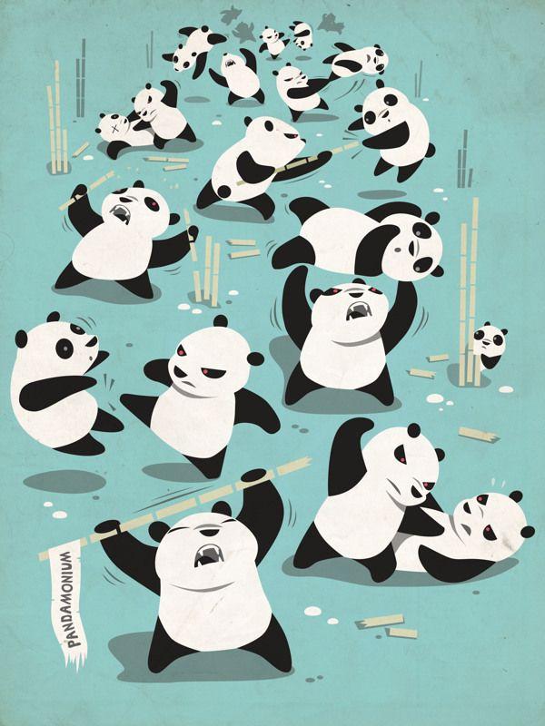 Marco Palmieri - Pandamonium - Tee #illustration #Panda