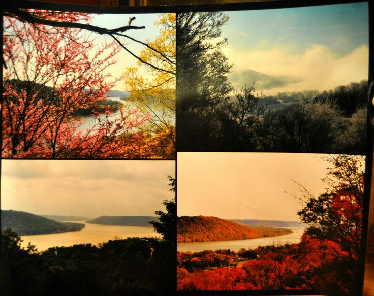 "Hanover College ""The Point"" 4 seasons photo print collage"