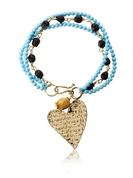 Mercedes Salazar Heart Charm Bracelet, Turquoise at MYHABIT