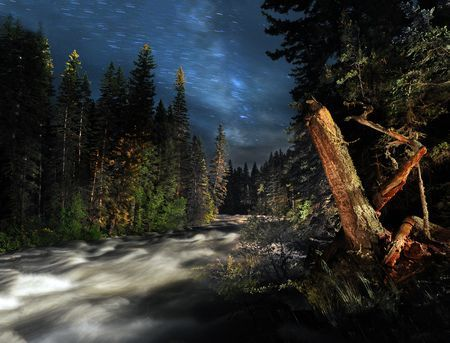 Night on the Boulder River Photo by John Warner -- National Geographic Your Shot