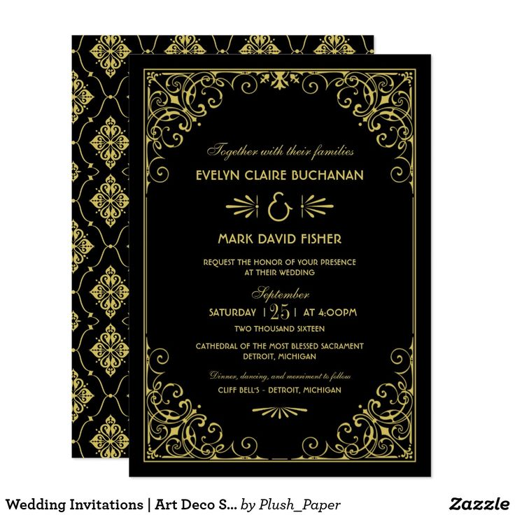 400 Best GOLD WEDDING Invitations Images On Pinterest