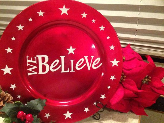 Christmas Tree Charger Decorative Plate  by MorningstarGeneralSt, $12.00