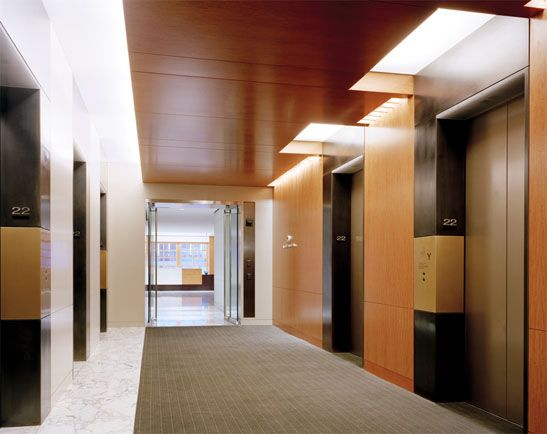 Pillsbury Winthrop Law Offices | New York | office elevator lobby