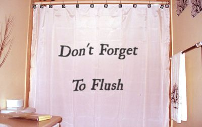 The perfect shower curtain for those who live with someone forgetful