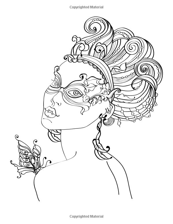 Faces Coloring Book For Grown Ups 1 Nick Snels