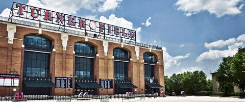 Turner Field, home of the Braves... we went their for our honeymoon.. can't wait to go back!!