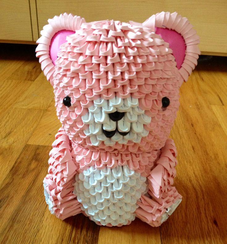 3d origami teddy bear 3d origami pinterest 3d