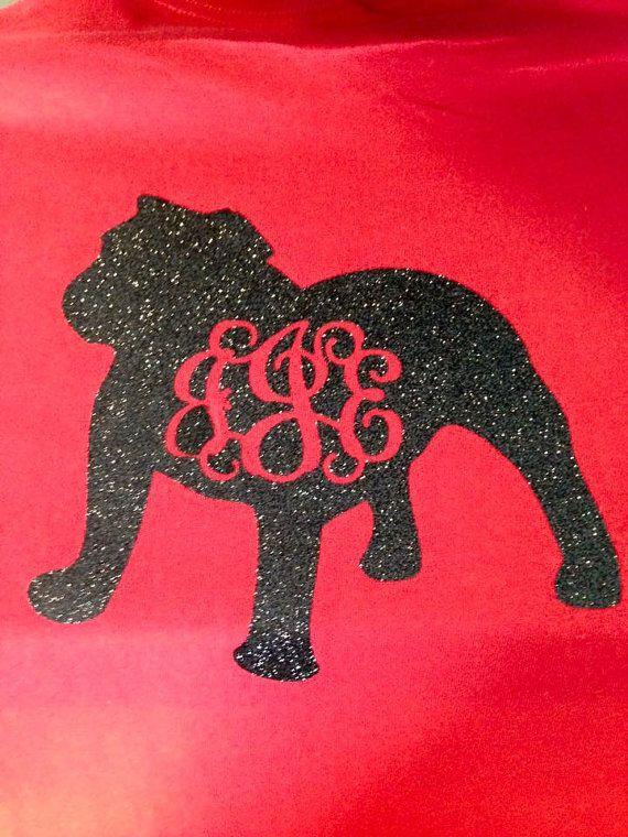 Monogram Georgia Bulldog shirt by MissSophiesBoutique on Etsy