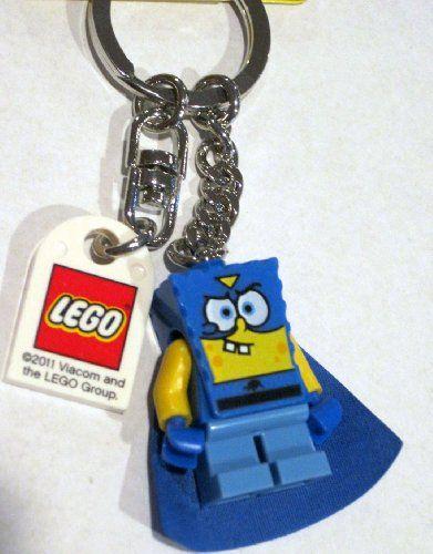 Lego SpongeBob SquarePants Superhero Keychain 853356 @ niftywarehouse.com #NiftyWarehouse #Spongebob #SpongebobSquarepants #Cartoon #TV #Show