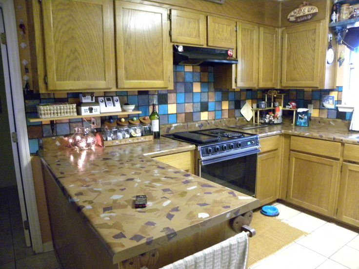 Inexpensive Countertops : Easy & Inexpensive DIY Kitchen Countertops