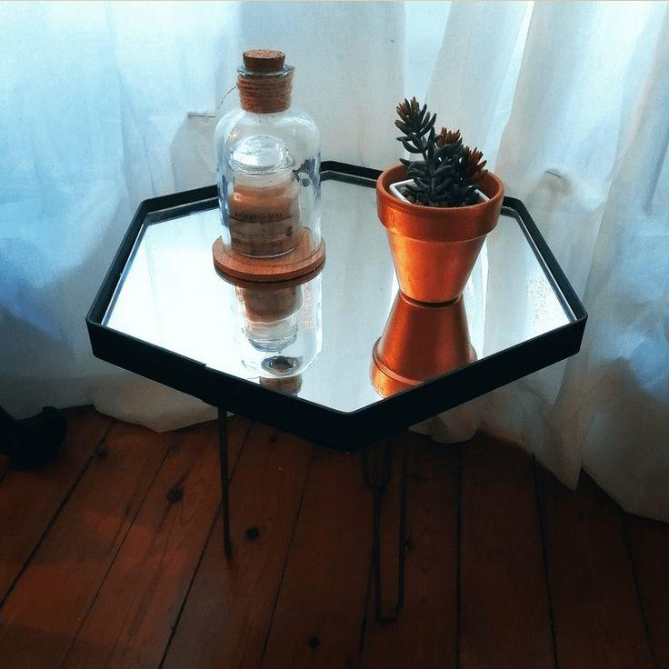 Table basse en miroir ~ Miss Glama Zone | Mooka, le quotidien du DIY