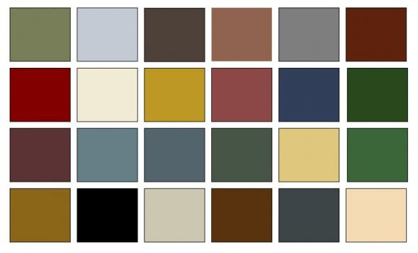 American colonial color palette for the home pinterest for Home outside palette