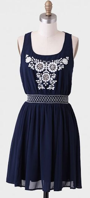 navy #blue embroidered dress http://rstyle.me/n/irmvzr9te ...