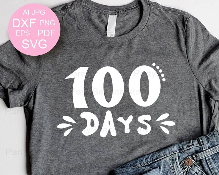 Excited to share the latest addition to my #etsy shop: 100 Days of School SVG 100 days svg 100th Day Svg Teacher svg Hundredth day Svg Ai Dxf Eps Png Kids School T-shirt design Cricut Silhouett http://etsy.me/2naN63M #supplies #blue #babyshower #kidscrafts #gray #100da
