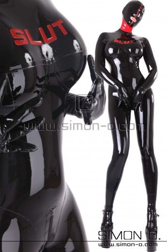 rubber doll latex catsuit slut