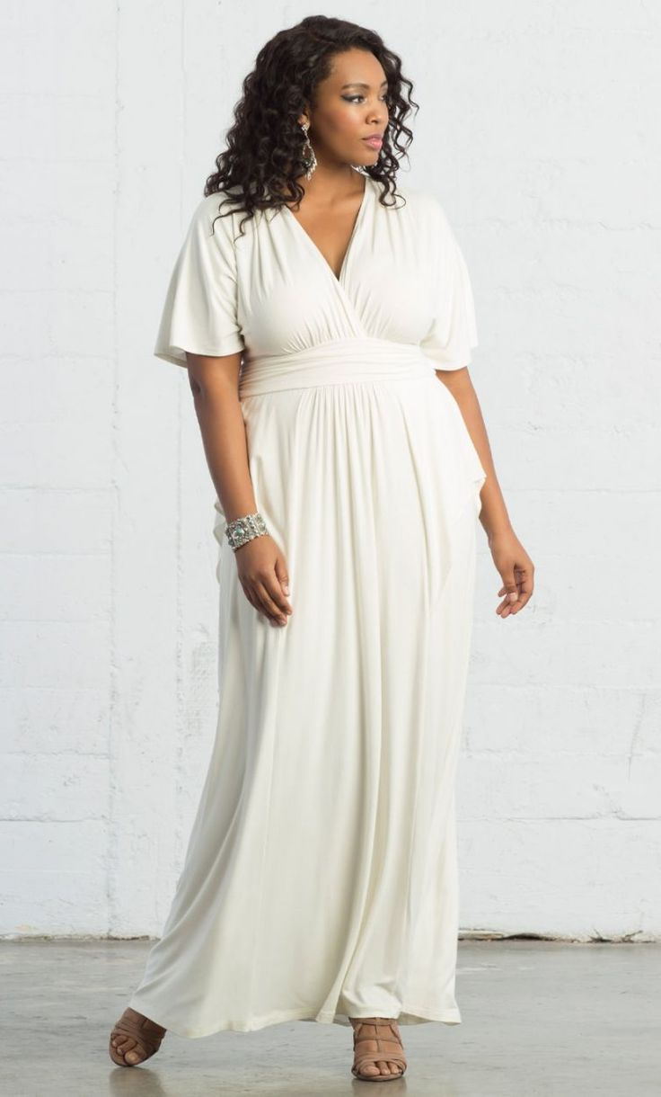 Plus size white dress - Feel Like A Gypsy Goddess In Our Plus Size Indie Flair Maxi Dress