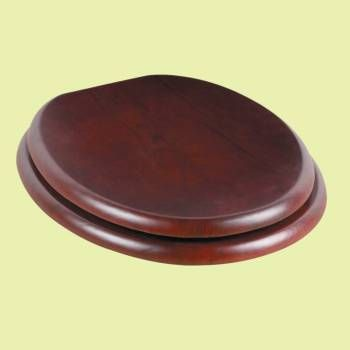 Toilet Seats - Round Toilet Seat Brass PVD Fittings Red Cherry Tint Finish by the Renovator's Supply