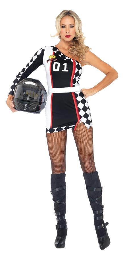 Women Asymmetrical checkered flag Racer Mini Dress size small/medium 4-8