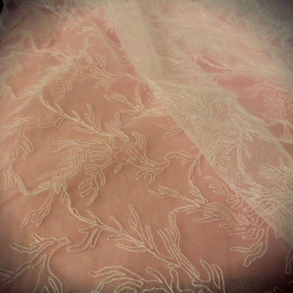 White Wedding Net Mesh Lace