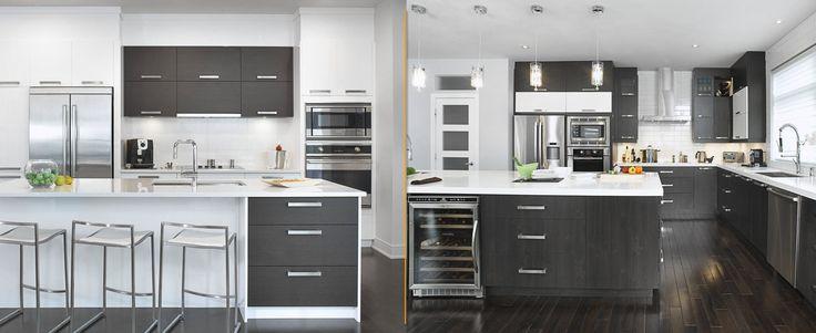 Blanc: épuré et classique. Noir: élégance et simplicité Êtes-vous plutôt noir et blanc ou blanc et noir? Pour plus de couleur: http://bit.ly/portfolio-cuisine