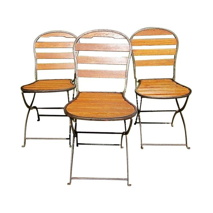 Folding '40s French Bistro Chairs - on Chairish.com