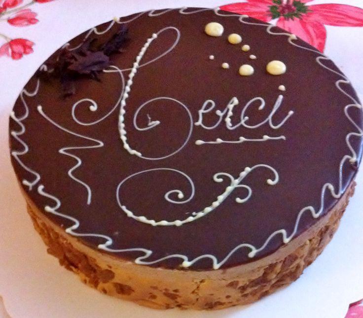 Le Guérande (mousse chocolat, insert caramel beurre salé, praliné ...