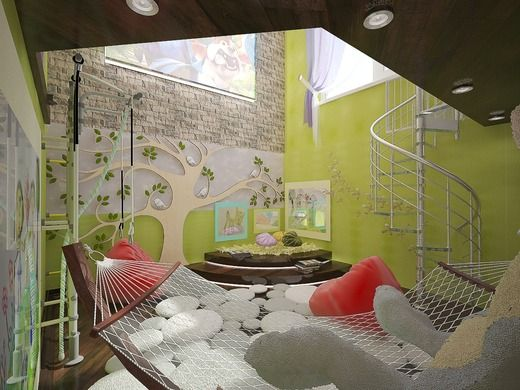 Детская игровая комната с проектором. Детская