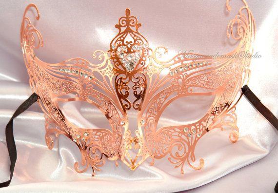Gossip Girl Serena Masquerade Mask -  Serena Van Der Woodsen Luxury Unique Rose Gold Filigree laser cut Metal Masquerade Ball Mask on Etsy, $51.08 CAD