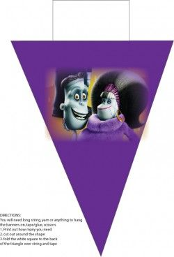 Banner 2, Hotel Transylvania, Party Decorations - Free Printable Ideas from Family Shoppingbag.com